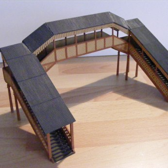 GWR footbridge from a Hornby (now Gaugemaster) 4mm scale plastic kit.
